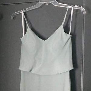 Gwennie Sage Bridesmaid Dress XS (Shortened)